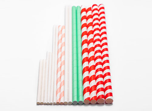 different sizes of paper straws