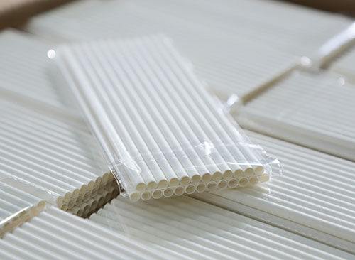 package of paper straws
