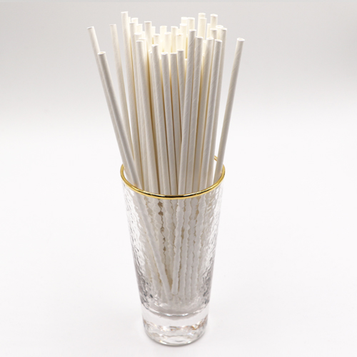 Plain White Paper Drinking Straws Bar Sip Stirs 1