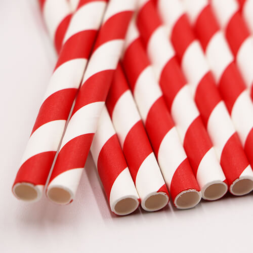 4 Layer Sturdy Biodegradable Paper Drinking Straws 8 1