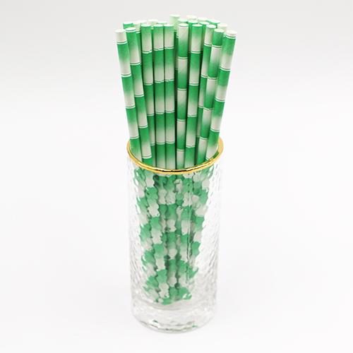 Bamboo Print Paper Straws 1