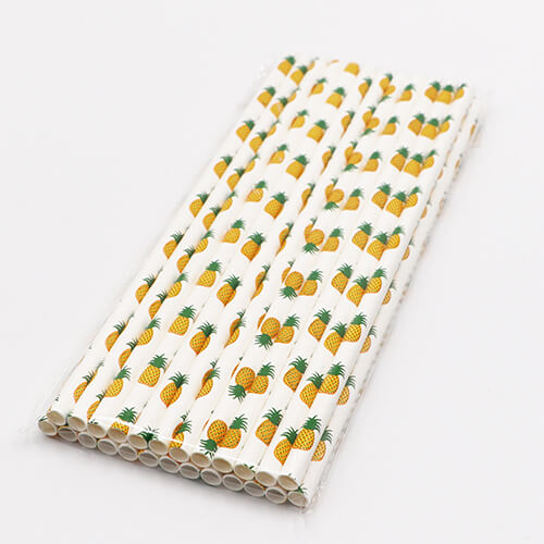 Biodegradable Pinapple Paper Straws 1 1