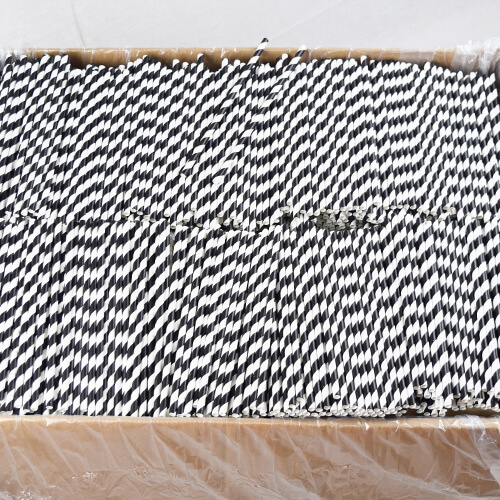 Black and White Stripped Paper Straws 5 1