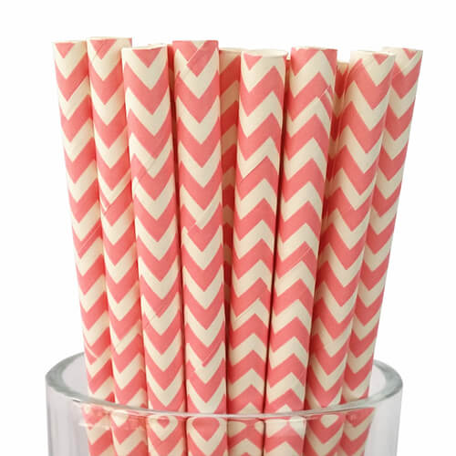 Classic Chevron Jumbo Paper Straws 4 1