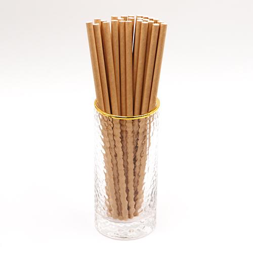 Classic Dye Free Brown Kraft Jumbo Paper Drinking Straws 1