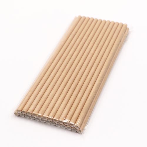 Classic Dye Free Brown Kraft Jumbo Paper Drinking Straws 4