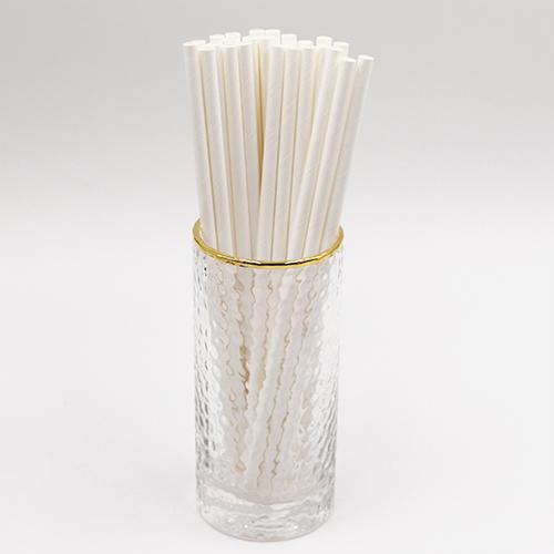 Classic Plain White Jumbo Paper Straws 1