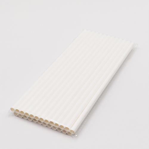 Classic Plain White Jumbo Paper Straws 3