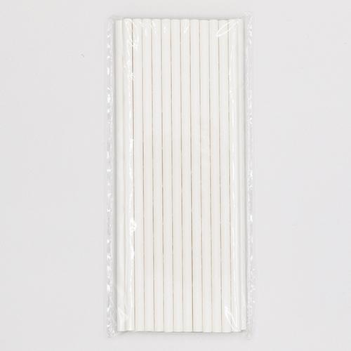 Classic Plain White Jumbo Paper Straws 4