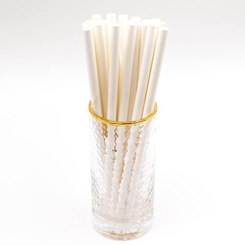 Plain White Giant Milkshake Paper Straws 1 1