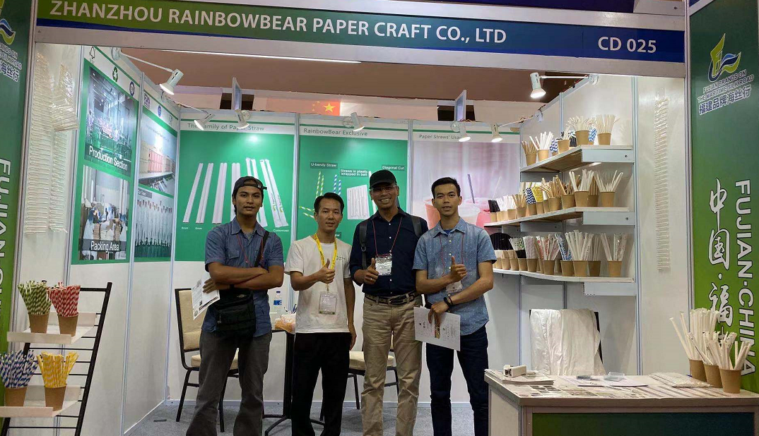 Established business relation with local paper straw factory