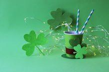 drink paper cups shape st patrick s hat with straws shamrock illumination1200