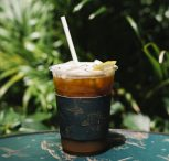 iced cold brew coffee with lemon table1